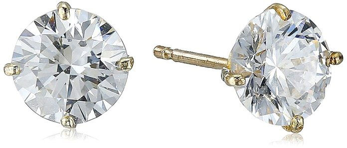 Amazonka Collection 10k Gold Swarovski Zirconia Studs