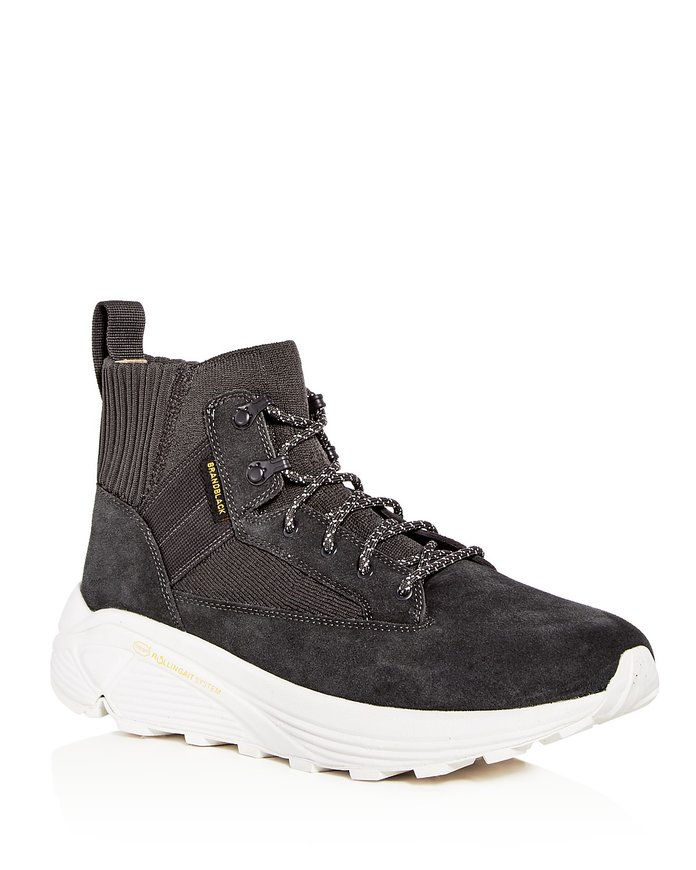 Millesimo di pollice Spec Hiker Suede & Knit High Top Sneakers