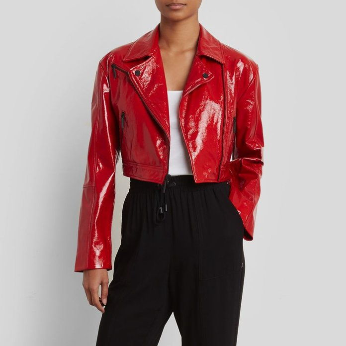 cartof Patent Leather Jacket