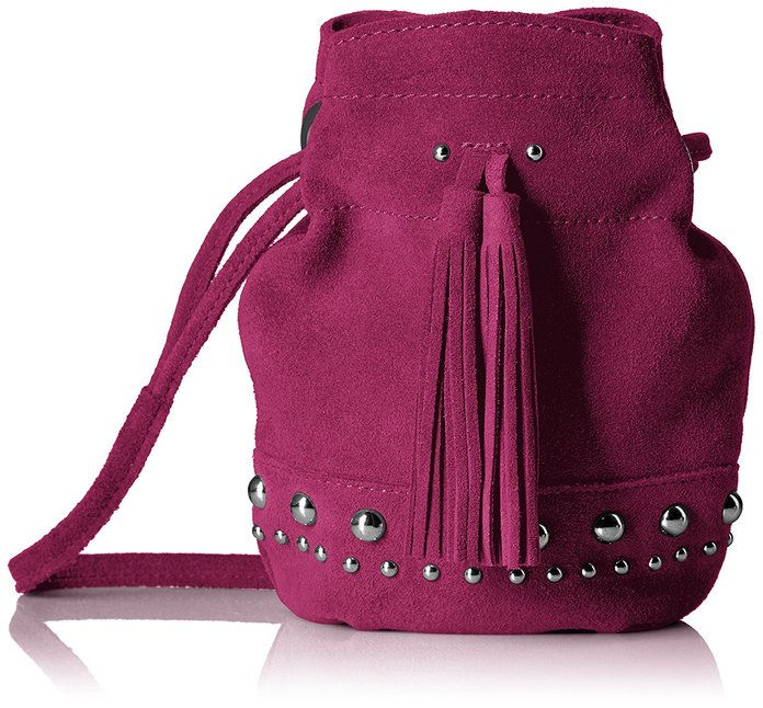 Fix Kirby Mini Studded Suede Bucket Crossbody Bag
