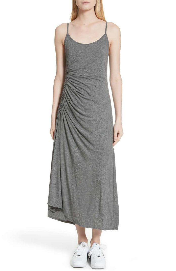 Delia Ruched Midi Dress