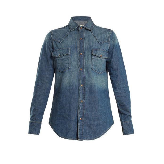 Hawa Denim Faded Denim Shirt