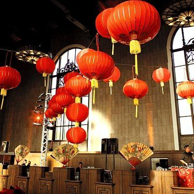 Lisa Ling & Paul Song's reception decor