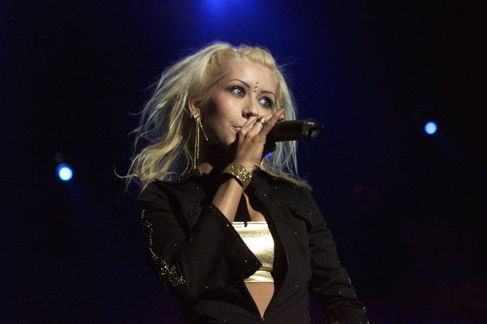 021318.CA.1216.kiis.9 ???? Christina Aguilera closed the show at the KIIS Jingle Ball concert at the Shr
