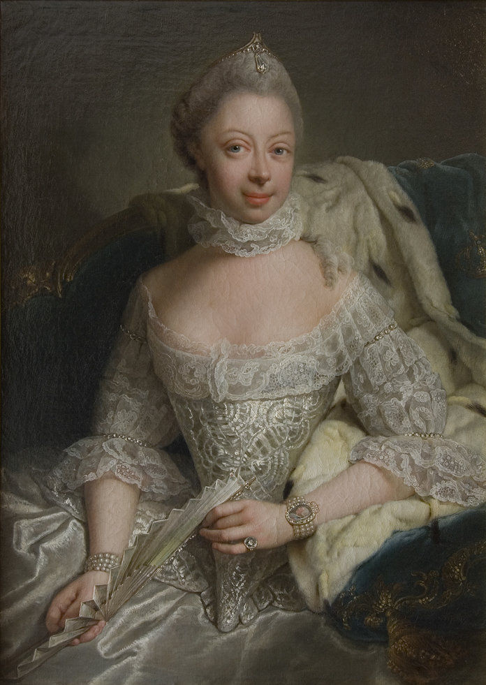 portrét Of Princess Charlotte Of Mecklenburg-Strelitz (1744-1818)
