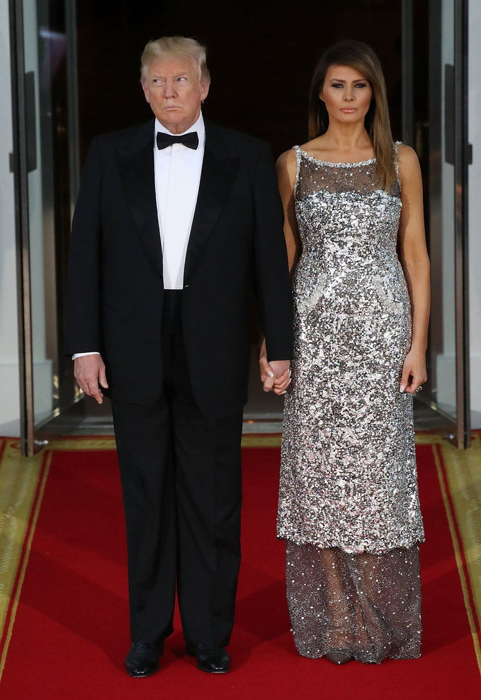 Presidente Trump And First Lady Hosts State Dinner For French President Macron And Mrs. Macron