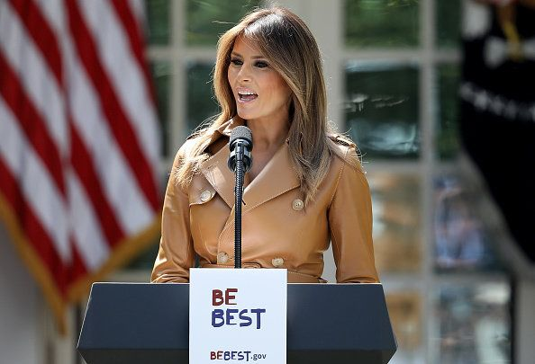 Primo Lady Melania Trump Speaks On The Launch Of Her Initiatives In The Rose Garden Of White House