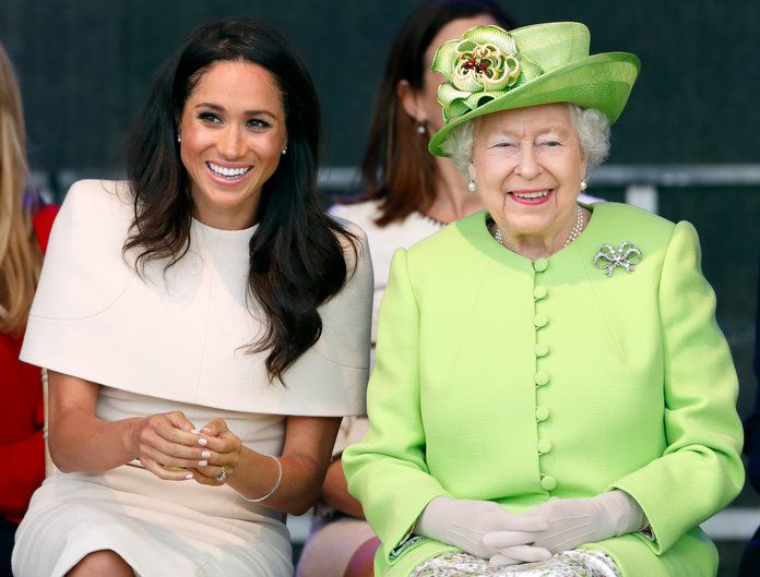 Il Duchess Of Sussex Undertakes Her First Official Engagement With Queen Elizabeth II