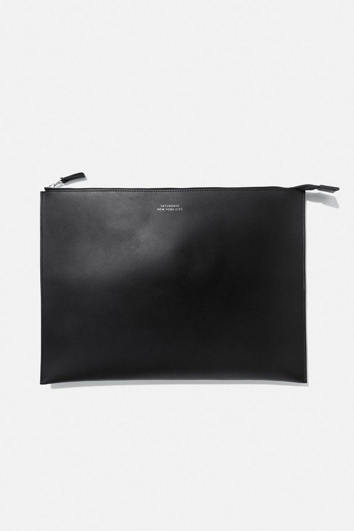 chiesa Large Zip Pouch Black