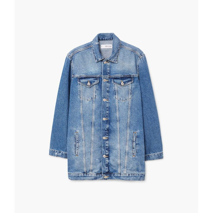 Mangga Oversized Faded Denim Jacket