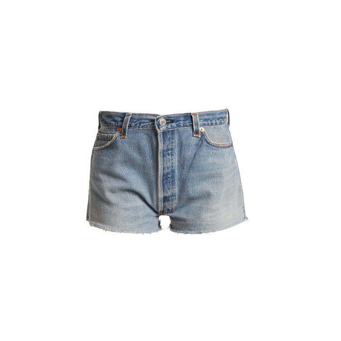 Re/Done Faded High Waisted Shorts