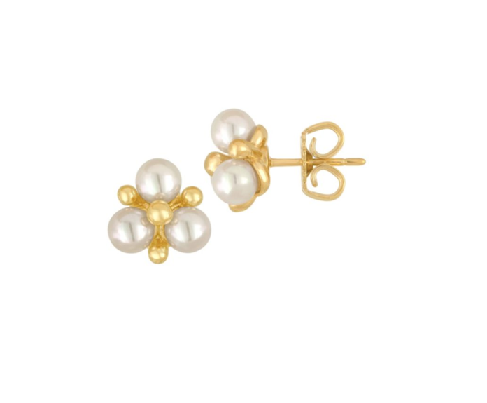 Majorica Faux-Pearl Cluster Stud Earrings