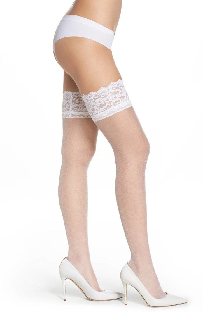 paha tinggi lace stockings
