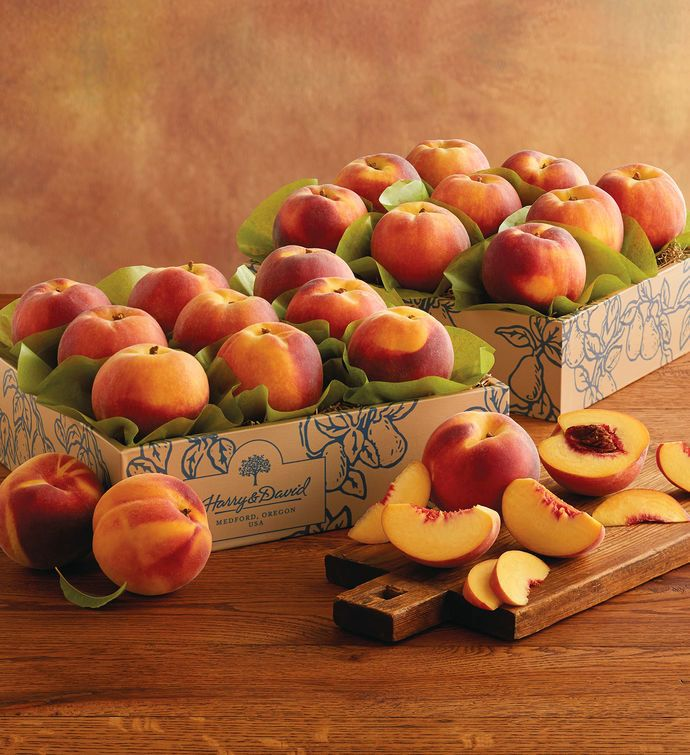 Dua Boxes of Oregold Peaches