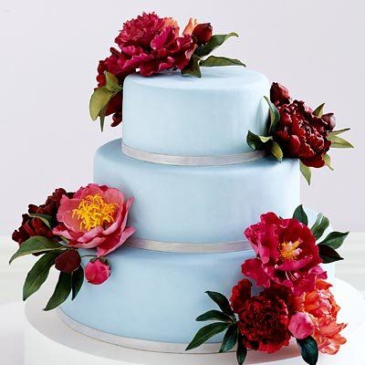 Peonia decorated cake